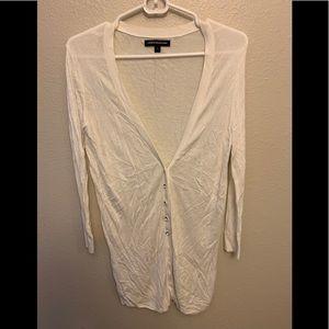 White long cardigan